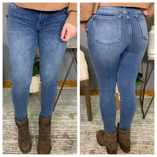 High Rise Judy Blue Thermal Jeans