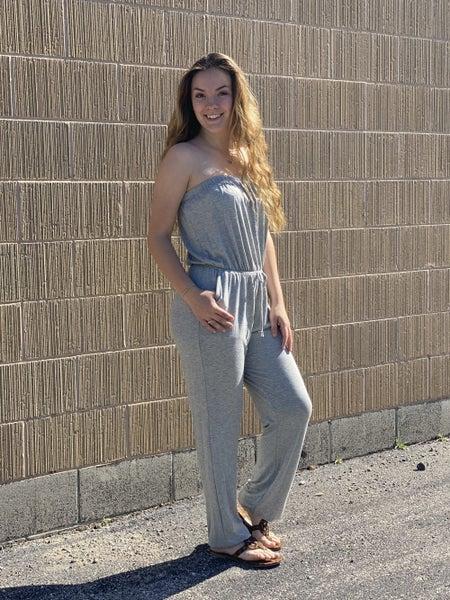 Solid Strapless Jumpsuit - 3 colors!