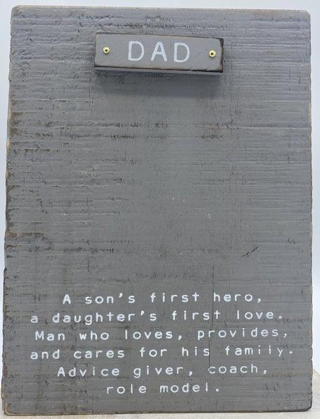 Sentimental Dad Block Frame