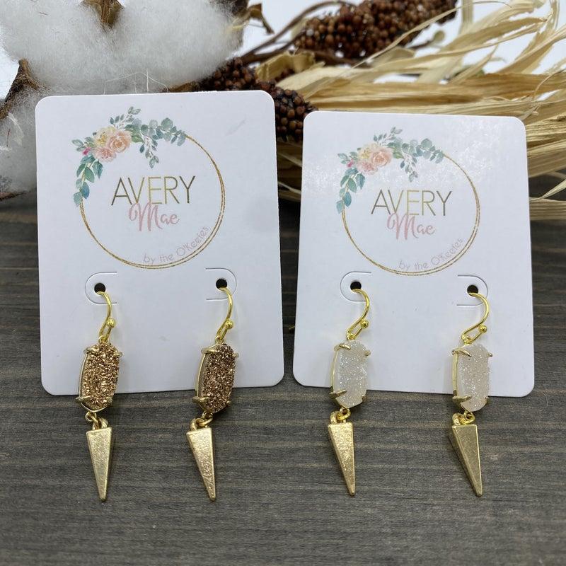 Amethyst Dangle Earrings - 2 colors!