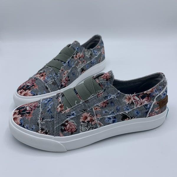 Shark Grey Floral Blowfish Tennis Shoes