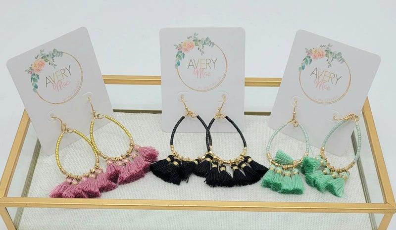 Tassel Me Up Earrings - 3 colors!
