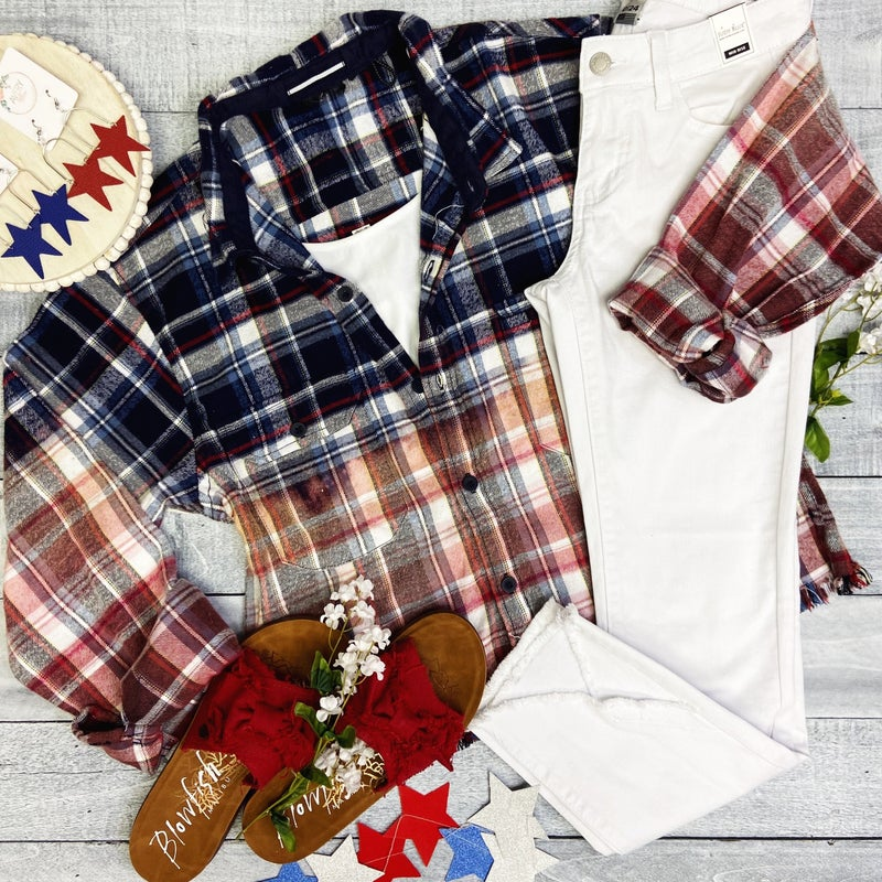 All American Girl Cropped Flannel