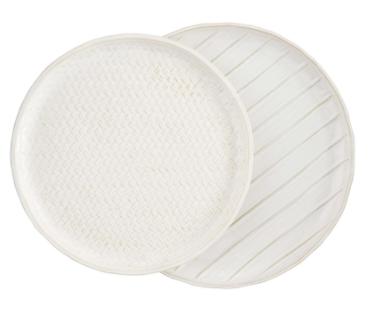 Nested Stoneware Platters ( Set of 2 )