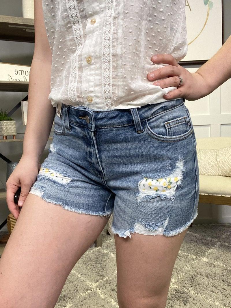 When Life Gives You Lemons Judy Blue Shorts