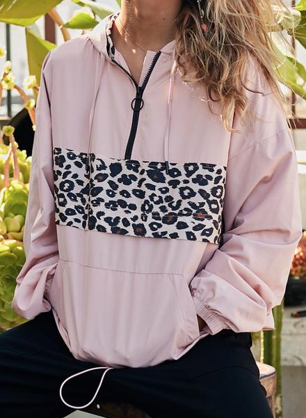 Pretty Pink Leopard Windbreaker