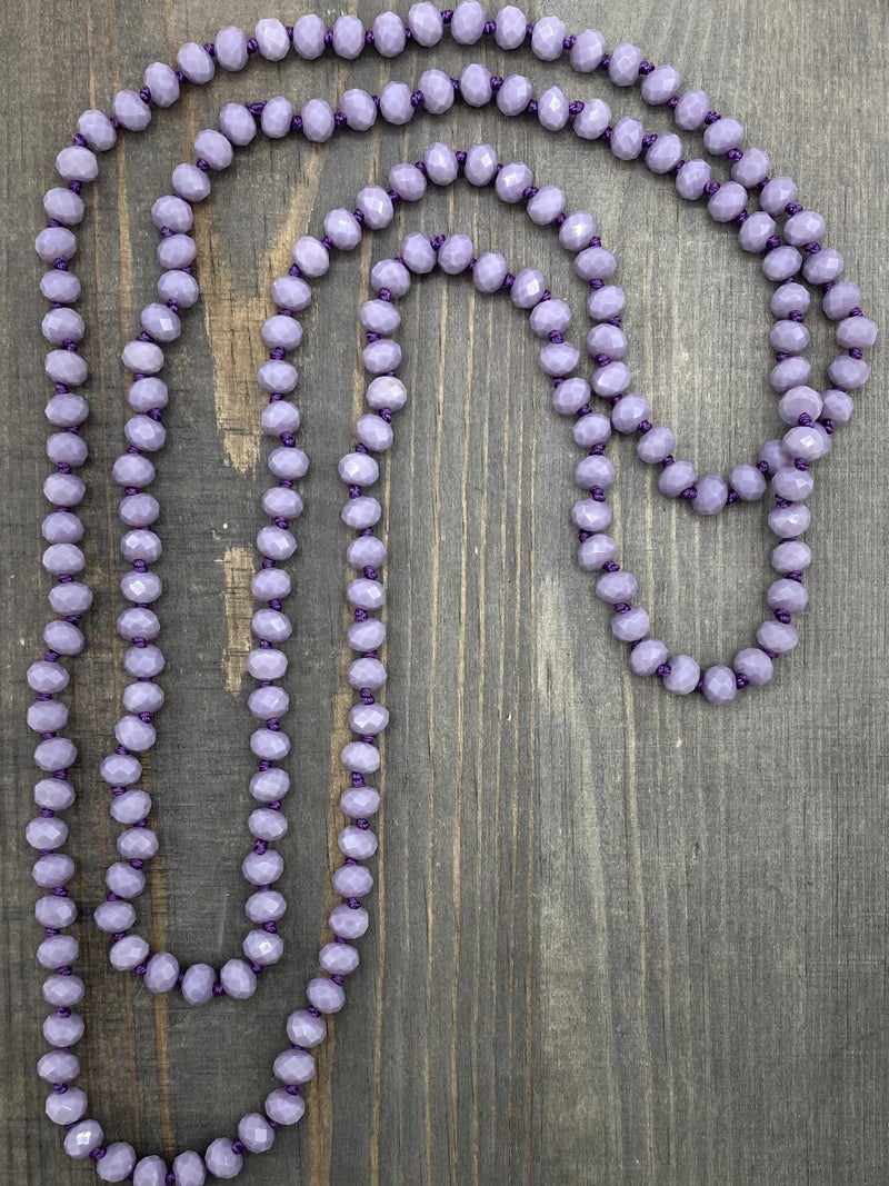 """60"""" Double Wrap Beaded Necklace"""