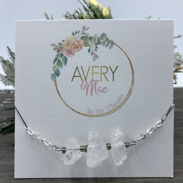 White Raw Gemstone Avery Mae Exclusive Bracelet