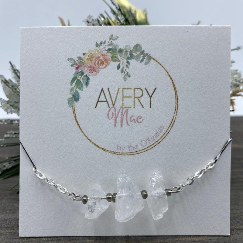 White Raw Gemstone Avery Mae Exclusive Bracelet