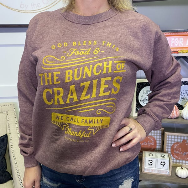 Bless This Food & Family Crewneck