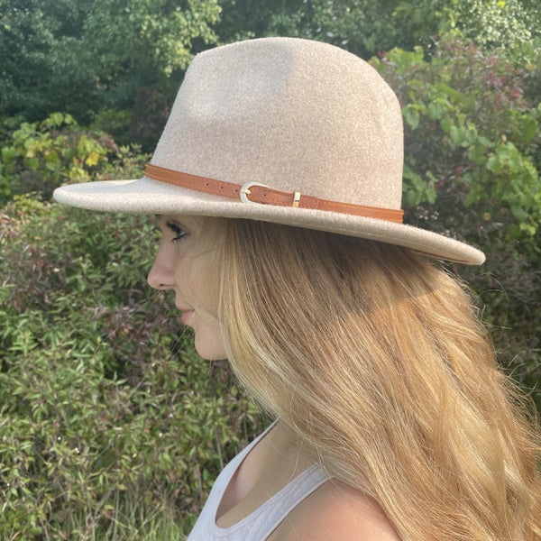 Leather Belt Panama Hat- 6 colors!