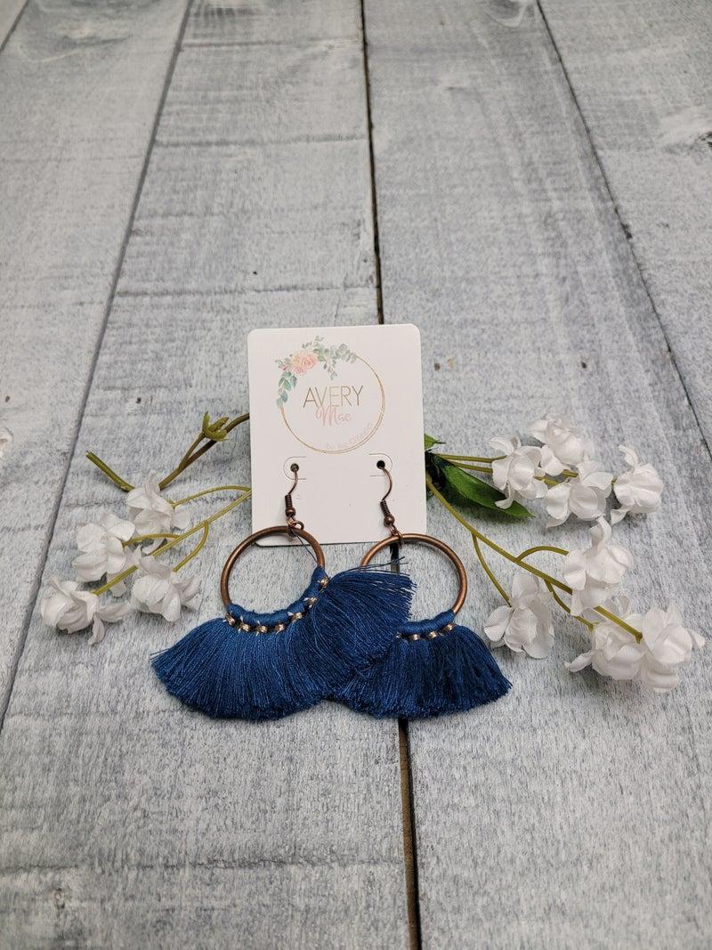 Back Road Tassel Earrings - 3 Colors!