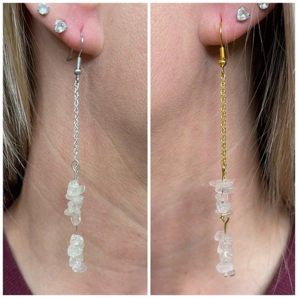 Baby Pink Gemstone Earrings