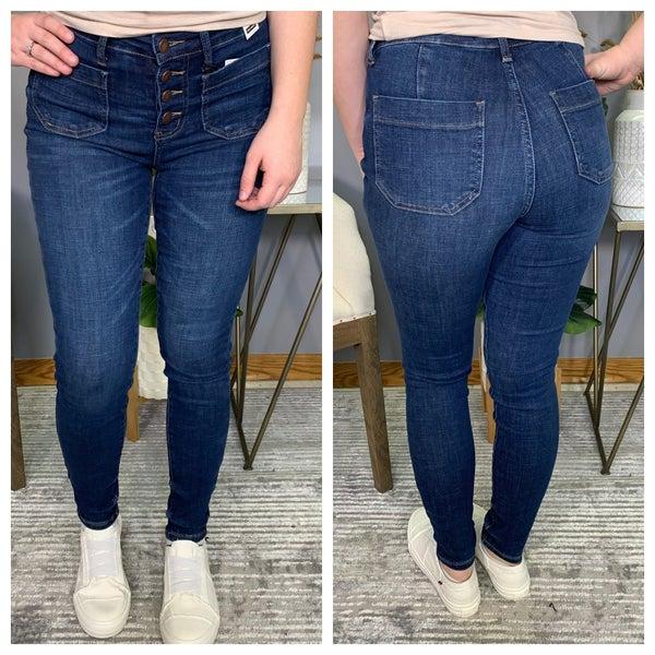 High Rise Stitch Pocket Judy Blue Jeans
