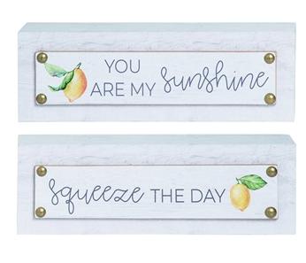 Lemon Accent Decor Block Signs - 2 options!