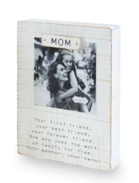 Sentimental Mom Block Frame