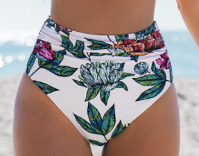Floral High Waisted Bathing Suit Bottom *Final Sale*