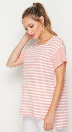 Striped Boxy Honeyme Top