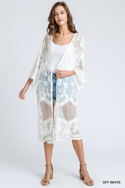 Fire And Lace Cardigan - 2 colors!