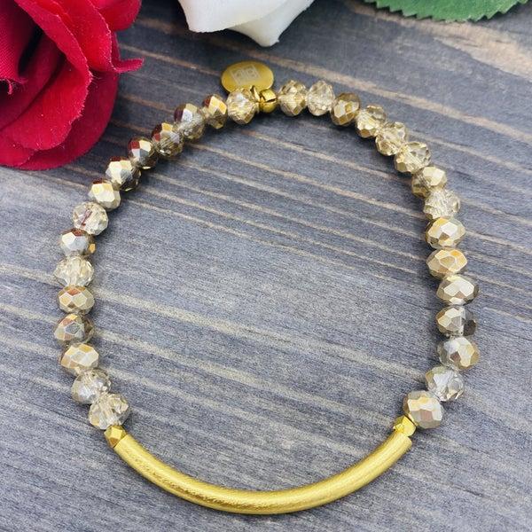 Glitter Amber Bracelet
