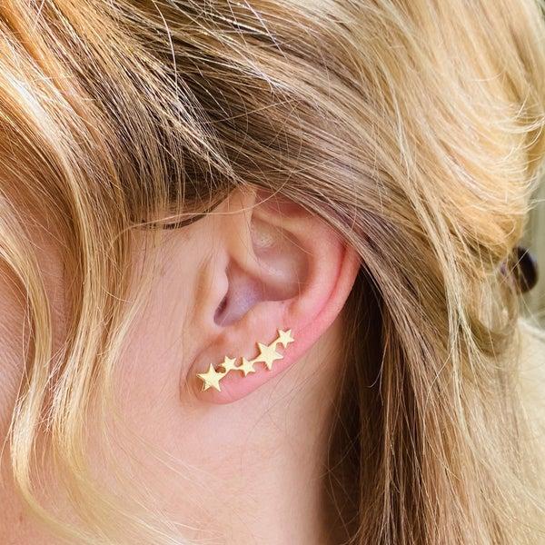 B.B.Lila Star Climb Earrings