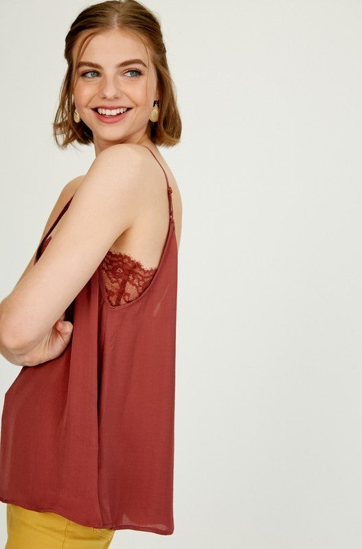 Just Right Lace Cami - 2 colors!