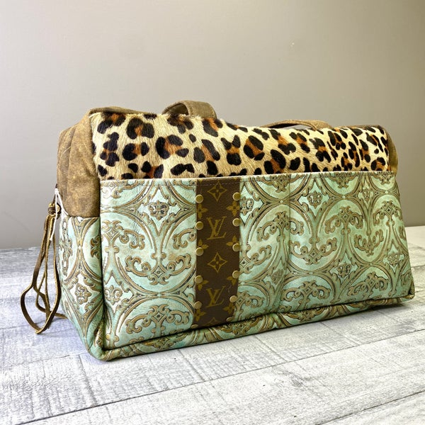 Up-Cycled Designer Duffle Bag