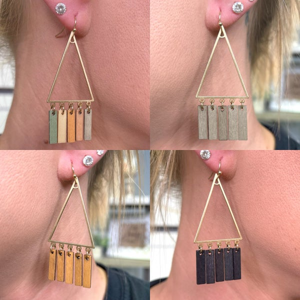 Just Enough Earrings - 4 colors!
