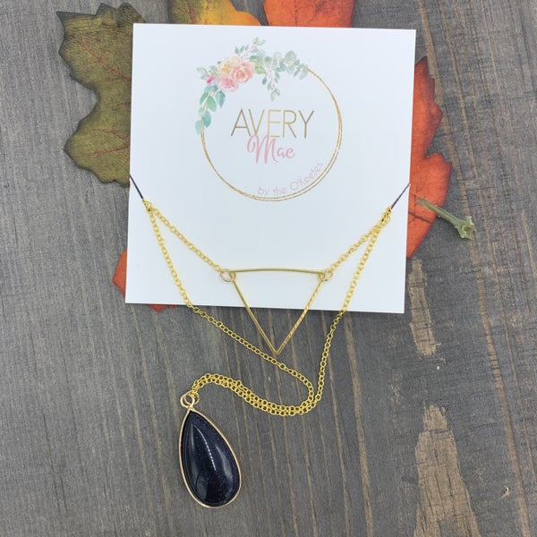 Blue Goldstone Avery Mae Exclusive Necklace