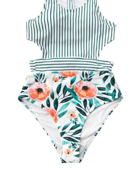 Cruise Time One Piece Bathing Suit *Final Sale*