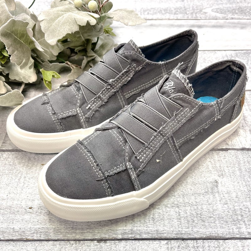 Blue Washed Canvas Blowfish Sneakers