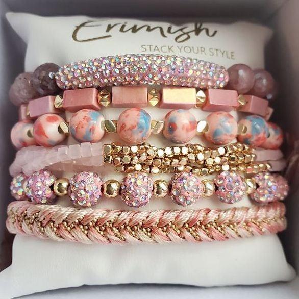 Erimish Mixed Stone Beaded Bracelet Stacks - 5 options!