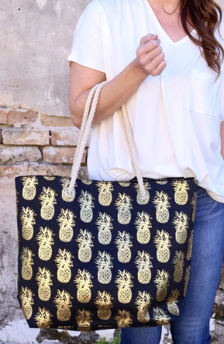 Rope Pineapple Tote Bag - 3 colors!