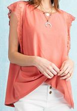 Sweet Laced Sleeves Top