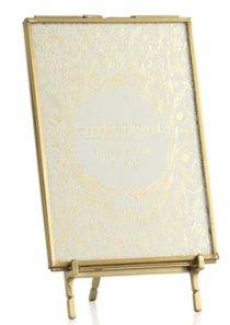 Gold Easel 5x7 Picture Frame