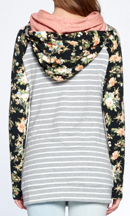 Wish Upon a Flower Double Hooded Sweatshirt