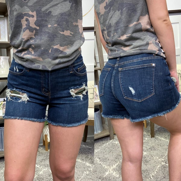 The Clarissa High Waisted Judy Blue Shorts