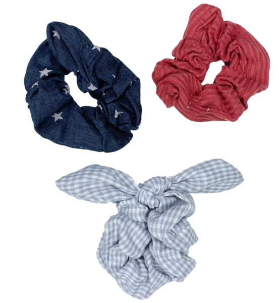 Stars & Stripes Scrunchie (3 piece set!)