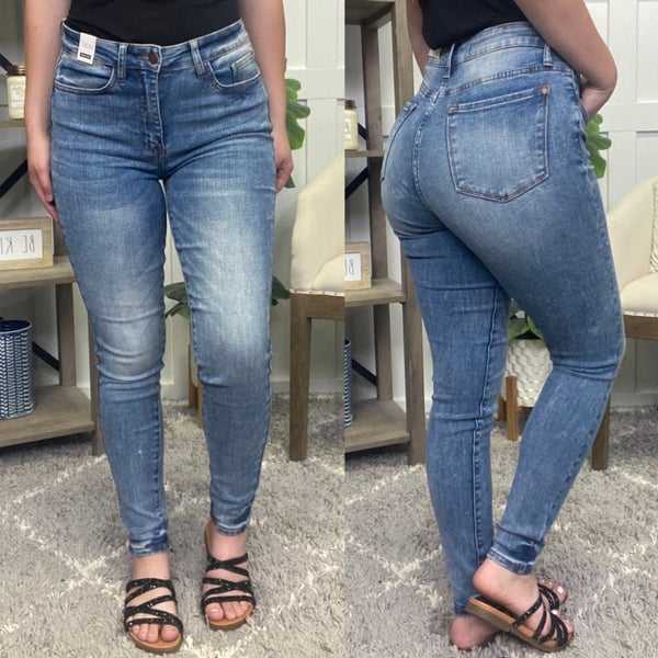 Miranda High Waisted Non Distressed Judy Blue Jeans