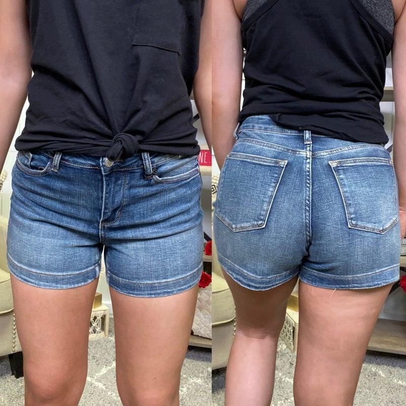 High Waisted Medium Wash Judy Blue Shorts