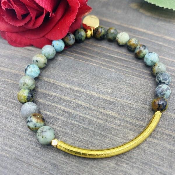 Jade & Gold Bracelet