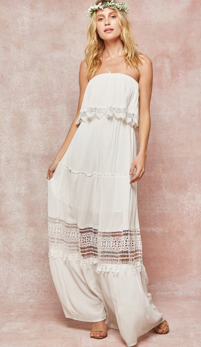 Down to Earth Strapless Dress