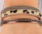 Bejeweled Magnetic Cuff