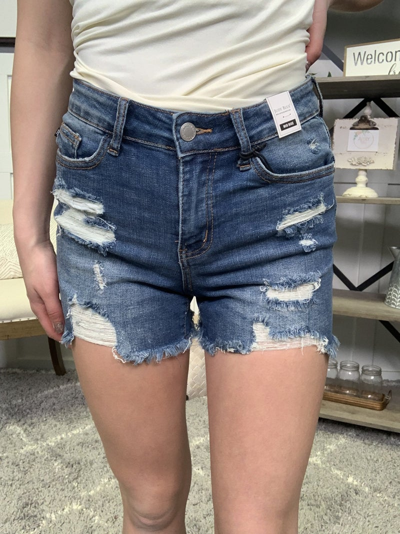 The Casey Mid Rise Judy Blue Shorts