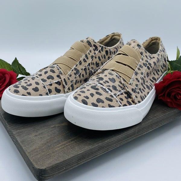 Latte Animal Print Blowfish Sneakers