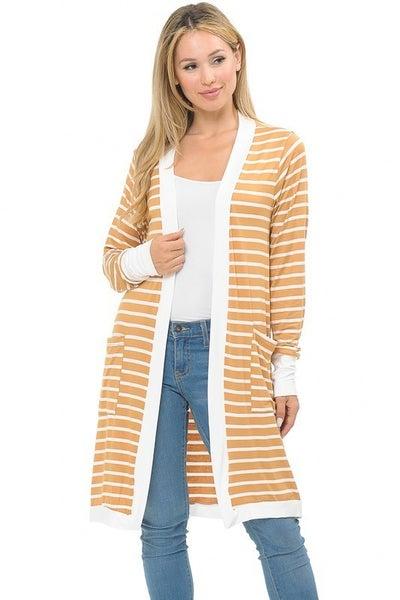 Stripe Midi Open Cardigan - 3 colors!