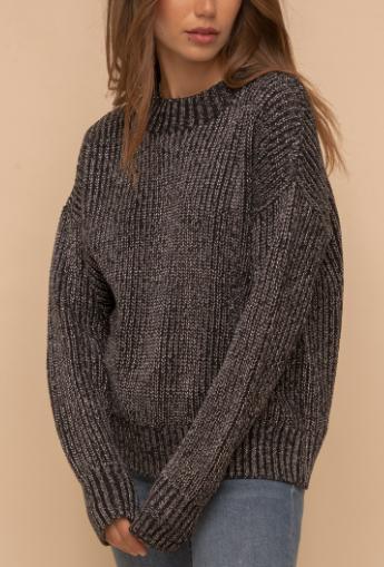 Shimmer Black Sweater