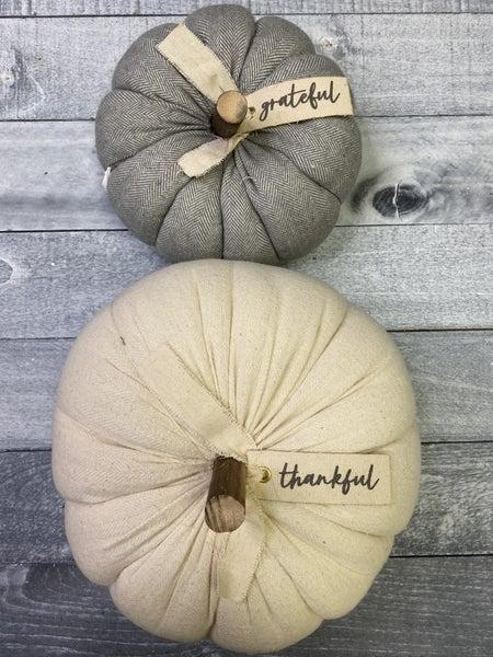 Fall Decor Pumpkins - 2 sizes!