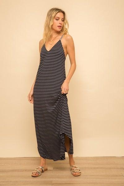 Sassy Stripe Back Detail Dress