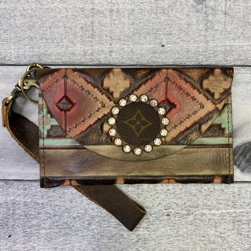 Up-Cycled Designer Tribal Wristlet